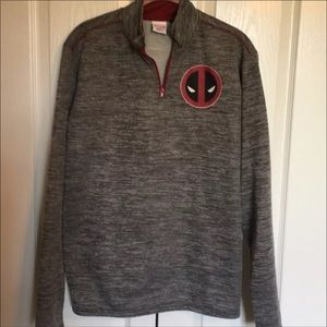 Marvel Deadpool 1/4 Zip Size S